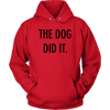 The Dog Did It Unisex Hoodie-Red-Woofingtons