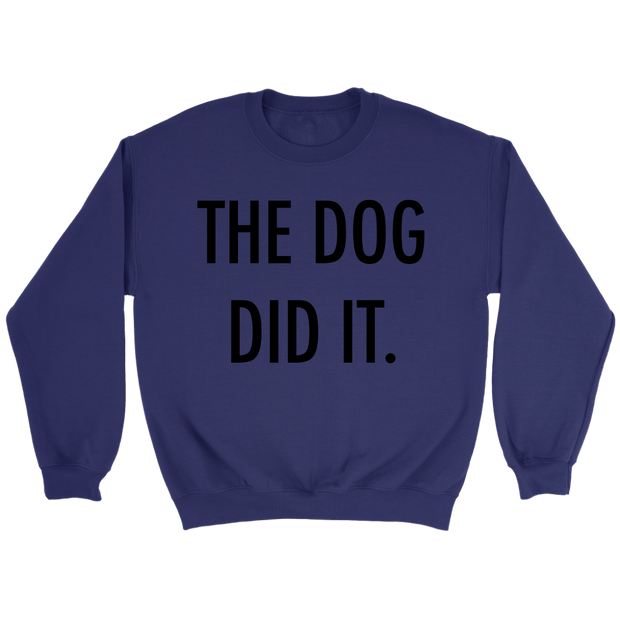The Dog Did It Unisex Sweatshirt-Purple-Woofingtons