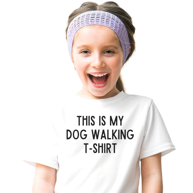 This Is My Dog Walking T-Shirt Youth Tee District Youth Shirt Woofingtons