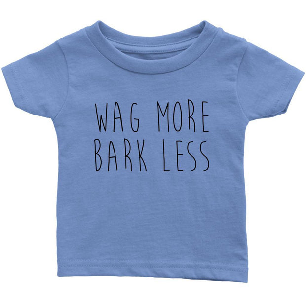 Wag More Bark Less Baby Tee-Baby Blue-Woofingtons