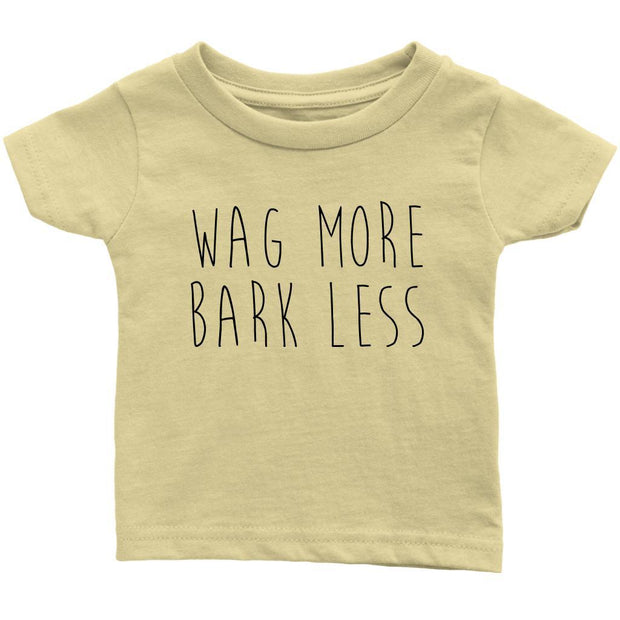 Wag More Bark Less Baby Tee-Lemon-Woofingtons