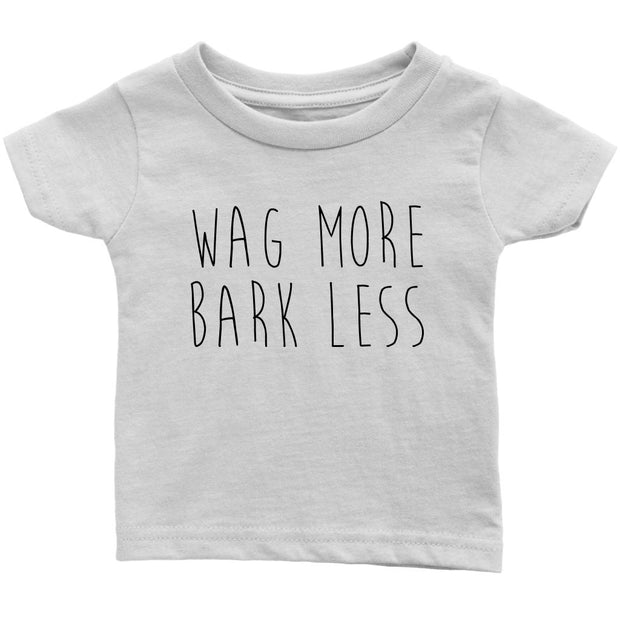 Wag More Bark Less Baby Tee-White-Woofingtons