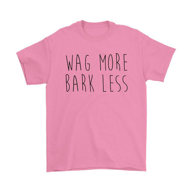 Wag More Bark Less Mens Tee-Azalea-Woofingtons