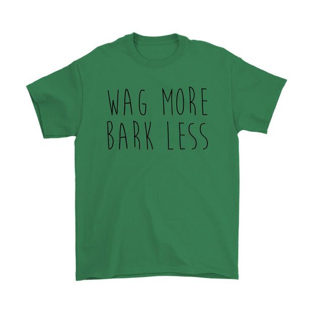 Wag More Bark Less Mens Tee-Irish Green-Woofingtons