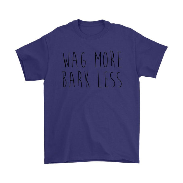 Wag More Bark Less Mens Tee-Purple-Woofingtons