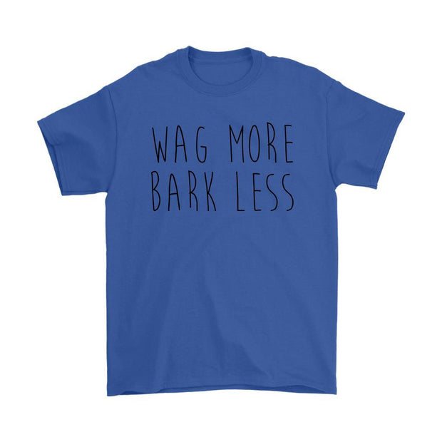 Wag More Bark Less Mens Tee-Royal Blue-Woofingtons