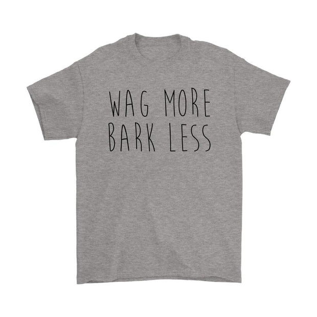 Wag More Bark Less Mens Tee-Sport Grey-Woofingtons