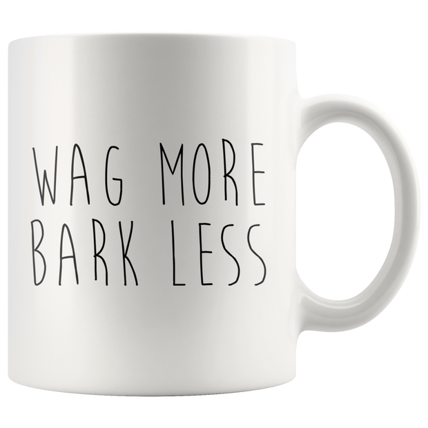 Wag More Bark Less Mug-dog-lover-gift
