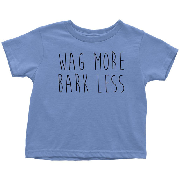Wag More Bark Less Toddler Tee-Baby Blue-Woofingtons