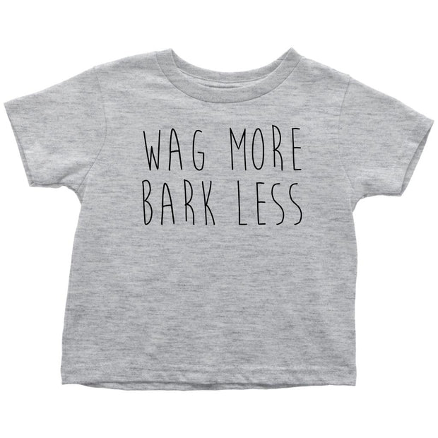 Wag More Bark Less Toddler Tee-Heather Grey-Woofingtons