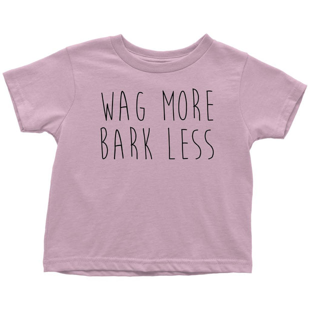 Wag More Bark Less Toddler Tee-Pink-Woofingtons