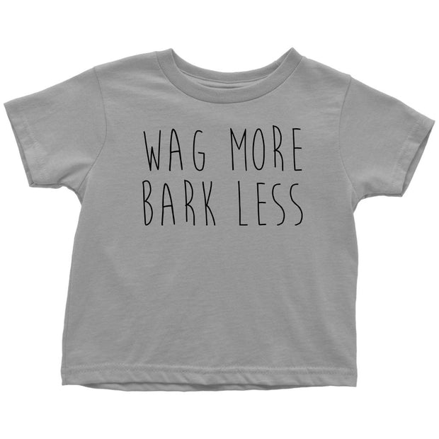 Wag More Bark Less Toddler Tee-Slate-Woofingtons