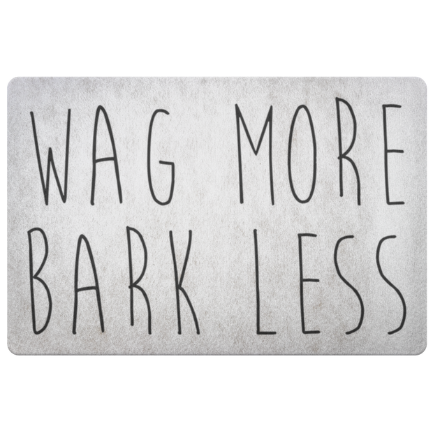 Wag More Bark Less Welcome Mat-dog-lover-gift