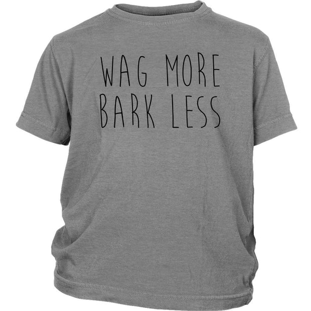 Wag More Bark Less Kids Tee-Sport Grey-Woofingtons
