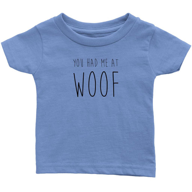 You Had Me At Woof Baby Tee-Baby Blue-Woofingtons
