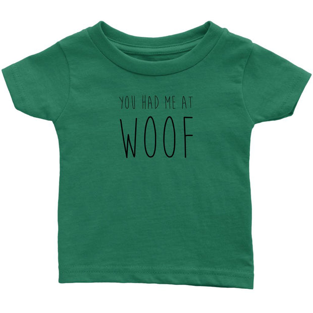 You Had Me At Woof Baby Tee-Grass Green-Woofingtons