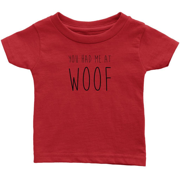 You Had Me At Woof Baby Tee-Red-Woofingtons