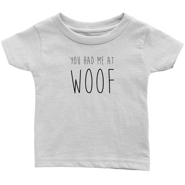 You Had Me At Woof Baby Tee-White-Woofingtons