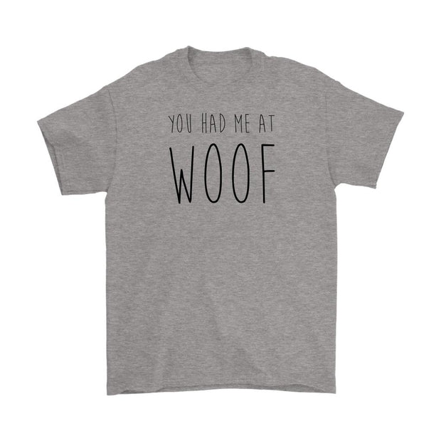 You Had Me At Woof Mens Tee-Sport Grey-Woofingtons