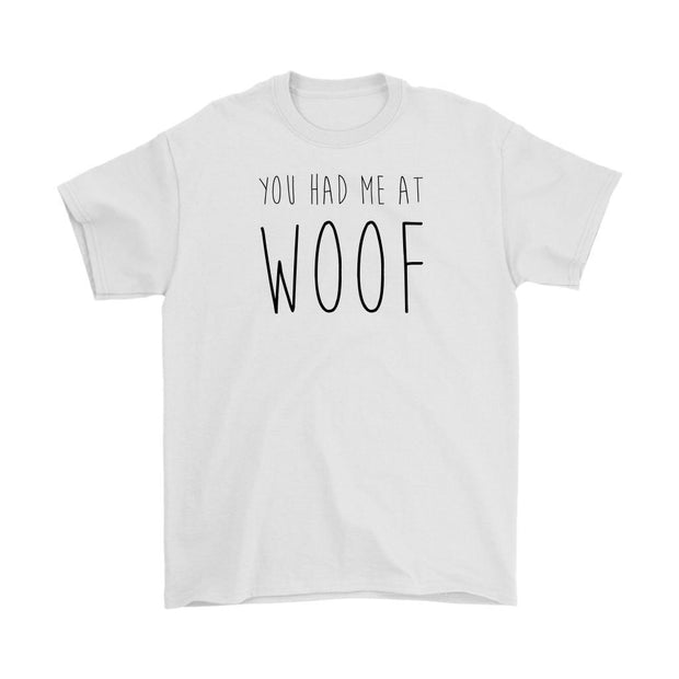 You Had Me At Woof Mens Tee-White-Woofingtons