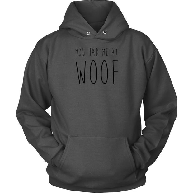 You Had Me At Woof Unisex Hoodie-Charcoal-Woofingtons