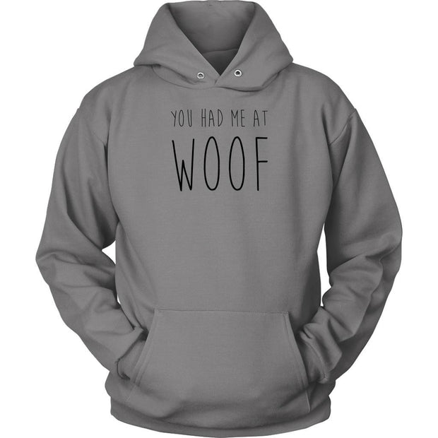 You Had Me At Woof Unisex Hoodie-Grey-Woofingtons