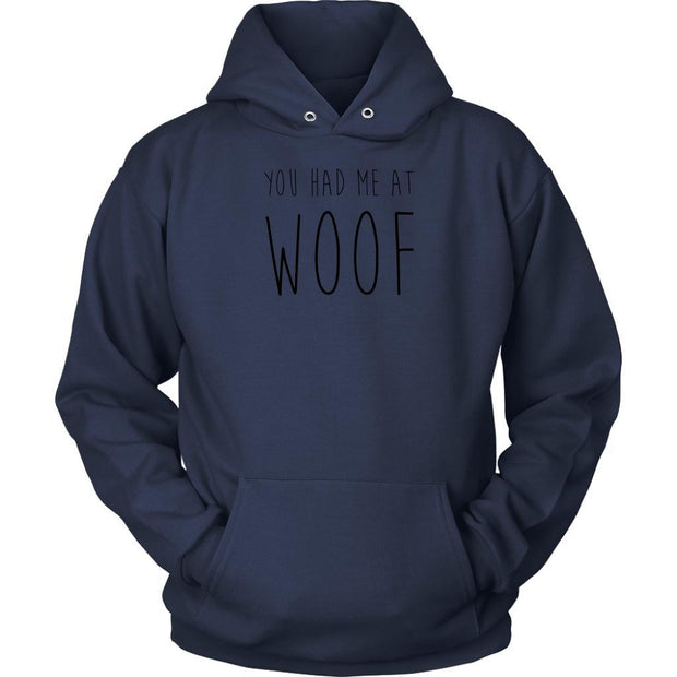 You Had Me At Woof Unisex Hoodie-Navy-Woofingtons