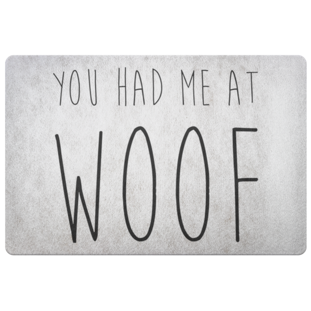 You Had Me At Woof Welcome Mat-dog-lover-gift