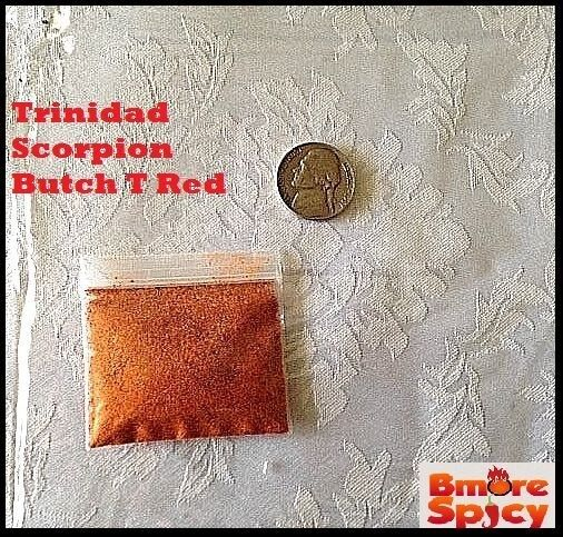 2.3 Grams Trinidad Scorpion Butch T chili powder Extremely HOT pepper spice RARE