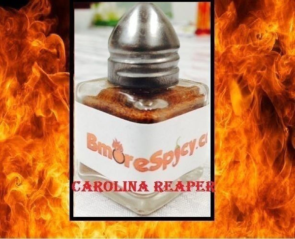 4x Reaper, Red & Yellow Ghost Pepper Aji Amarillo HOT Chili powder shakers .5 OZ