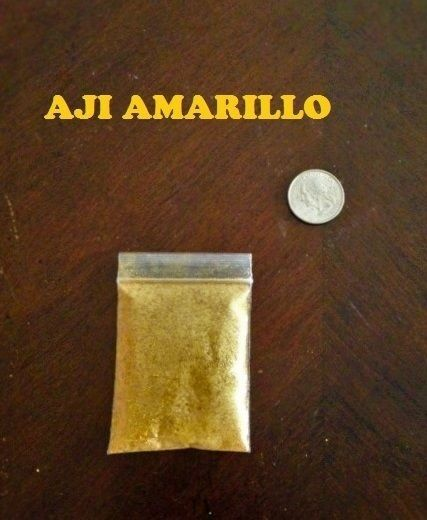 8.5 Grams Aji Amarillo Powder sample chile spice Cusqueno Hen chili Huancaina