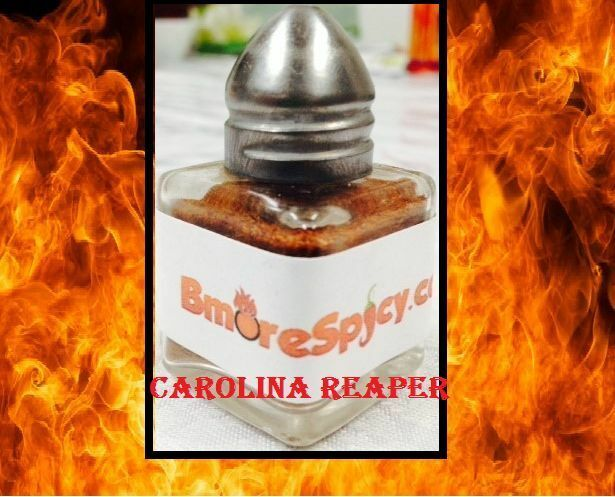 CAROLINA REAPER Chili Powder Shaker 1/2 ounce cube Extreme Red HOT! World Record