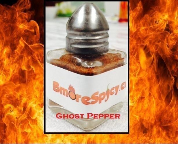Combo 3x Reaper, Red & Yellow Ghost Pepper Chili powder shakers .5 OZ Xtreme HOT