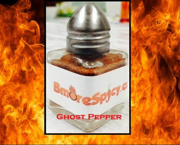 Ghost Pepper Bhut Jolokia salt shaker 1/2 ounce Red powder Extremely HOT n SPICY