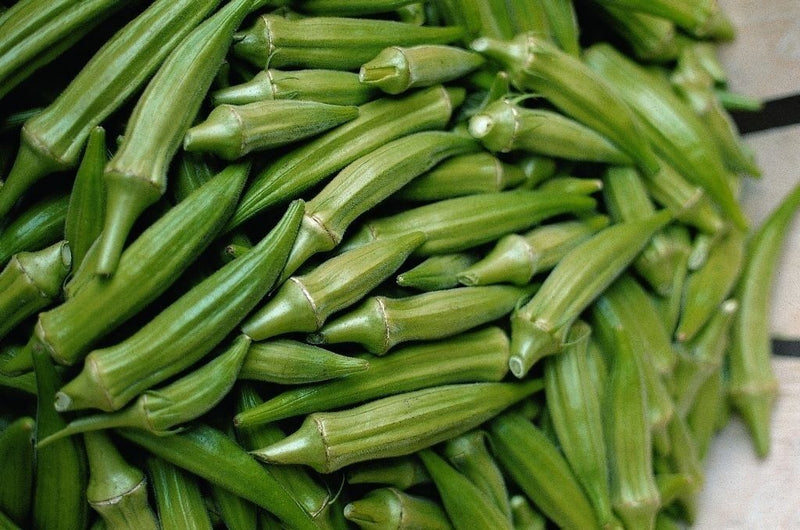 Okra Clemson Spineless 40 - 4000 Seeds Heirloom non gmo delicious tender pods