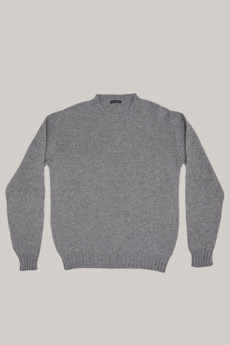 SWEATER RECYCLED BASIC MELANGE GRIGIO