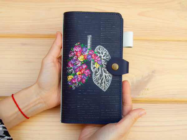 Custom Personalized Hand Painted Leather Journal Cover