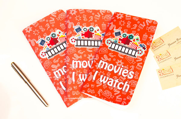 Watch Movies Schedule Notepad Movies I Watch Journal a Set of Three Standard Size  Refills Inserts 192 Pages (64 plus 64 plus 64)