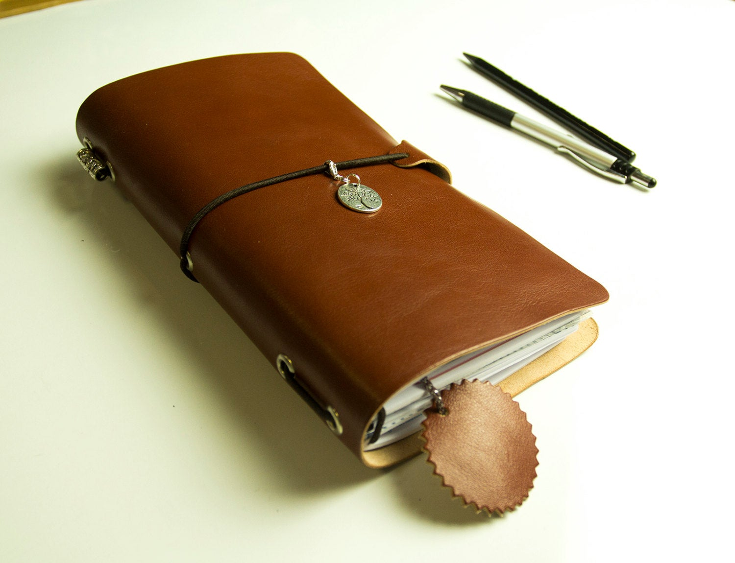 Habits Planner 2020 Travelers Leather Notebook with Original Inserts Mission Roles Planner