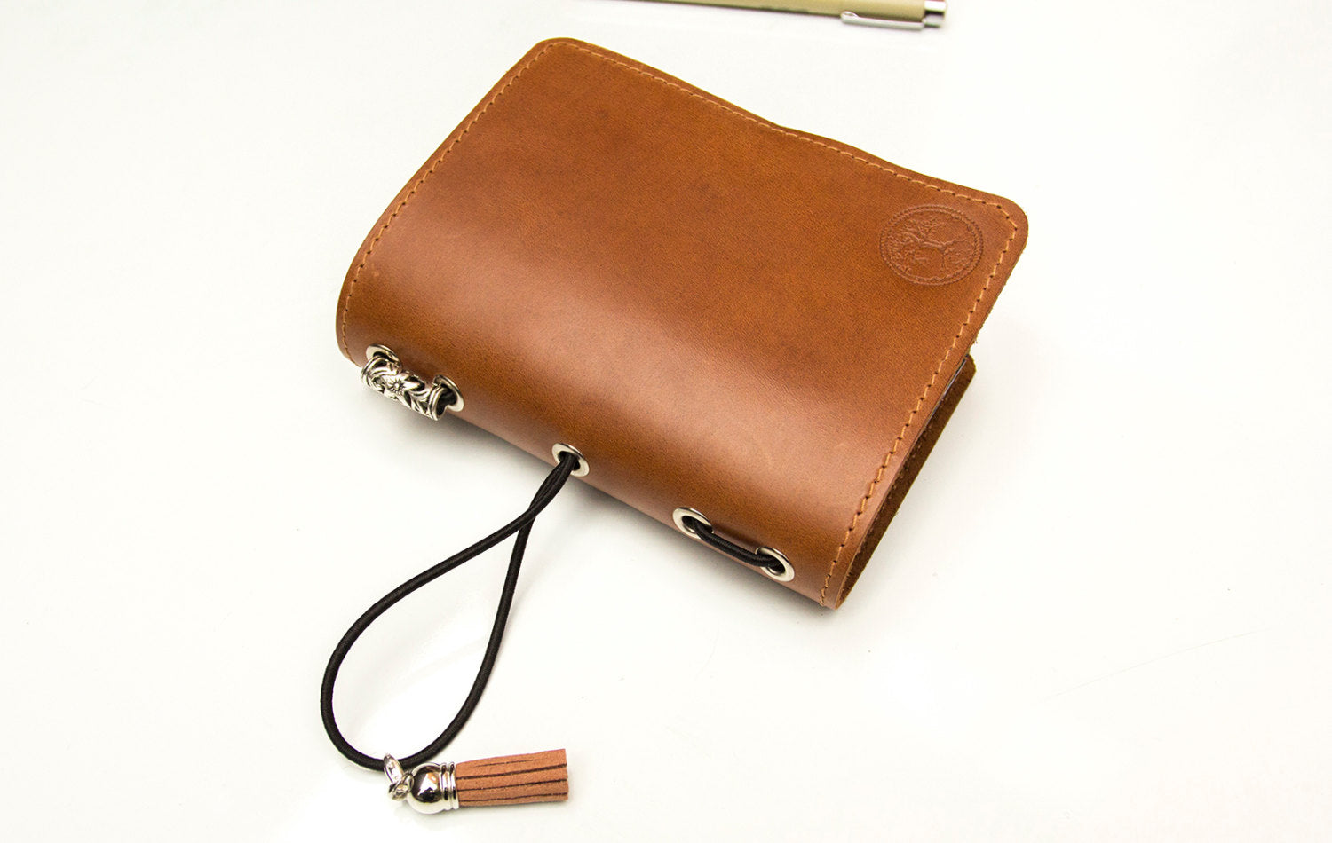 Passport Size Light Brown Leather Travelers Notebook