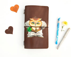 Wise Owl Hand Painted Journal