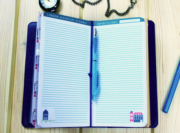 Fauxdori - London Fauxdori Notebook - Travelers Notebook - Fauxdori Cover Inserts - Fauxdori Planner - London Gift - London TN 2017 Planner