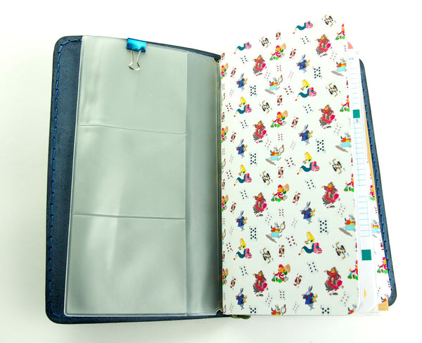 Alice in Wonderland - Custom Travelers Notebook - Wonderland Decor - Alice Birthday - Alice and Queen - Hand Painted Leather Regular Size
