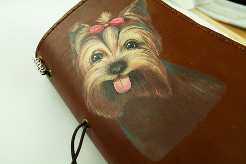 Personalized Dog Hand Painted Journal