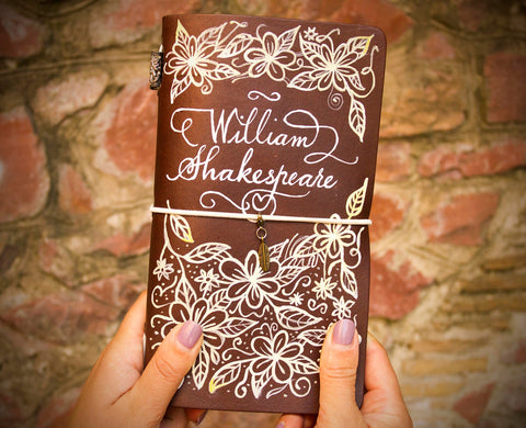 Custom Shakespeare Hand Painted Journal