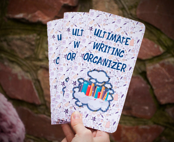 Writing Planner - Writing Organizer - How to Write - Writers Gift - Writing Tracker Regular Size Travelers Notebook Inserts Refills Set of 3