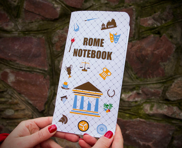 Regular Size Travelers Notebook Insert - Rome Notebook - Travel Diary - Travel to Rome - Travel to Italy - Tourist Gift - 64 Pages TN Refill