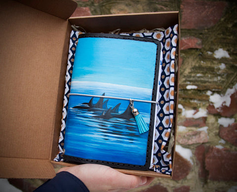 Customized Dolphins Hand Painted Journal