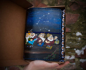 Personalized Dwarfs Hand Painted Leather Journal