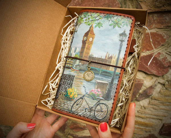 London Hand Painted Journal
